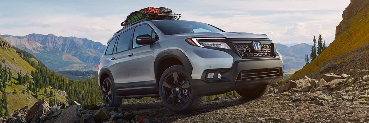2020 Honda Passport offroading up a mountain trail