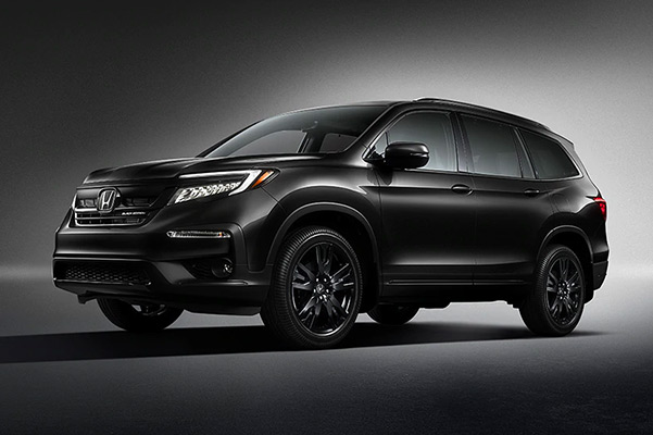 2020 Honda Pilot on a rugged background