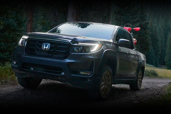 2020 Honda Ridgeline on a rugged background
